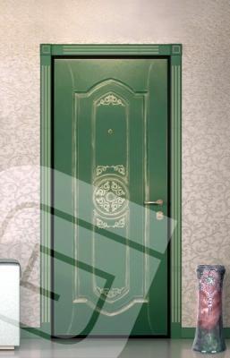 """<p class=""""defTitle""""> Описание </p> <p> Панели фрезерованные, крашеные или шпонированные на основе MDF 16 мм, ручная обработка под старину, с нанесением золотой патины.<br /> <br /> К данной декоративной панели возможно заказать <a href=""""../dobory-nalichniki.html"""">наличники и доборный брус</a>.</p>"""