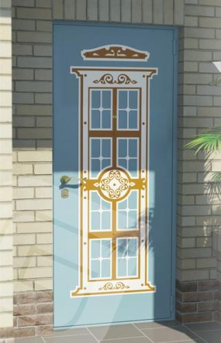 """<p class=""""defTitle""""> Описание </p> <p> Отделка представляет собой декорированный накладной элемент в виде колонны, который состоит из трех слоев: болого, золотого и снова белого цвета, каждый из которых выполнен методом лазерной резки.</p>"""
